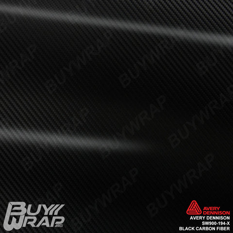 Avery SW900 Black Carbon Fiber Wrap | SW900-194-X