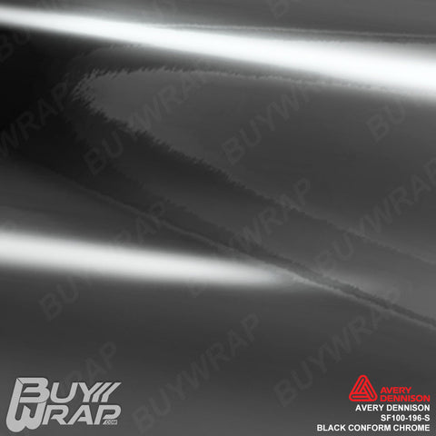 Avery Dennison SF100-196-S Black Conform Chrome Car Vinyl