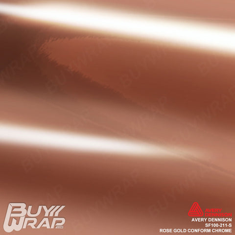 Avery Dennison SF100-211-S Gloss Rose Gold Conform Chrome vinyl car wrap film