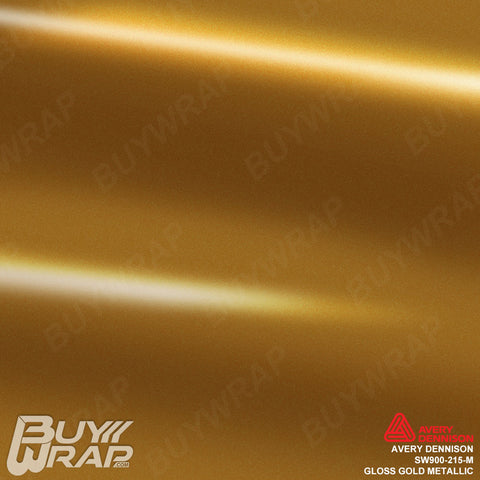 Avery Dennison SW900-215-M Gloss Gold Metallic Vehicle Vinyl Wrap