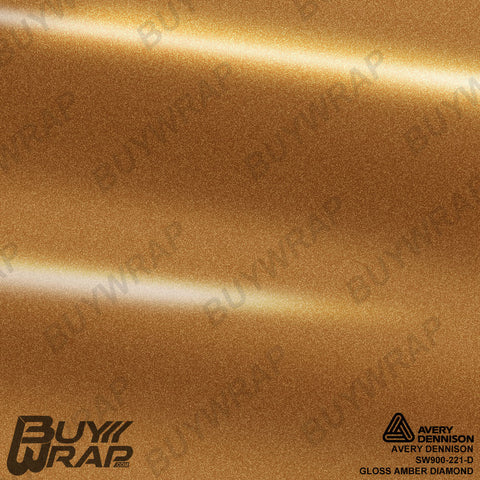 Avery Dennison SW900-221-D Gloss Amber Diamond Vinyl Film Wrap