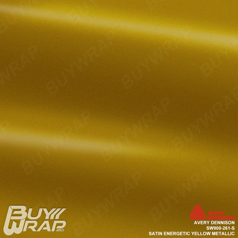 Avery SW900 Satin Energetic Yellow Metallic Wrap | SW900-261-S