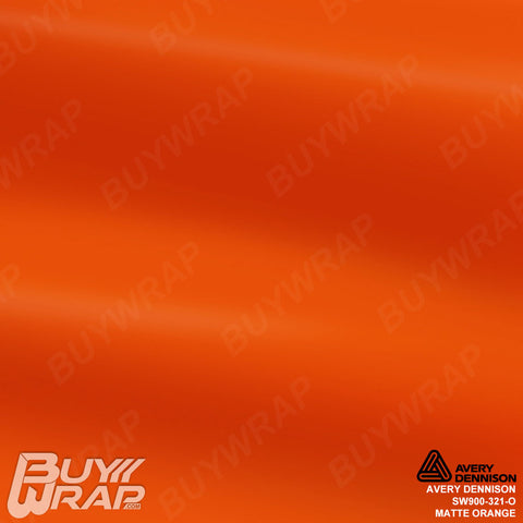 Avery SW900 Matte Orange Wrap | SW900-321-O