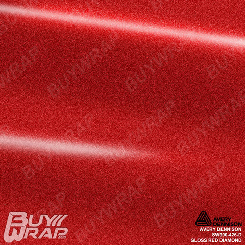 Avery Dennison SW900-426-D Gloss Red Diamond Wrap
