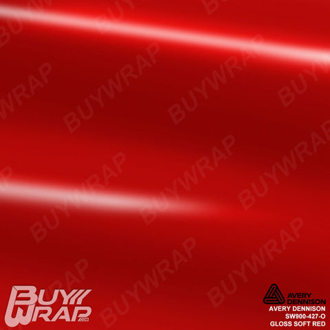 Avery Dennison SW900-427-O Gloss Soft Red Vehicle Wrapping Vinyl Film