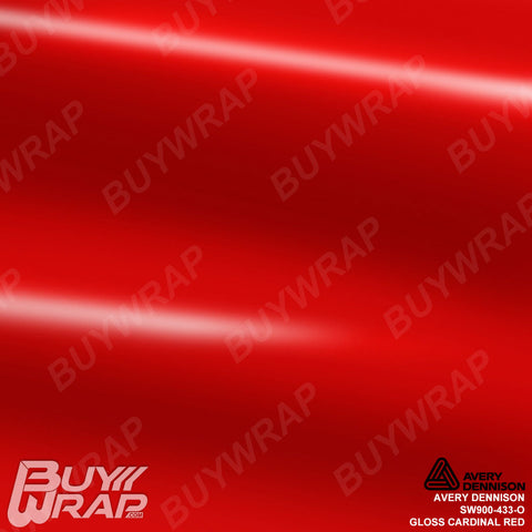 Avery Dennison SW900-433-O Gloss Cardinal Red Vinyl Film Wrap