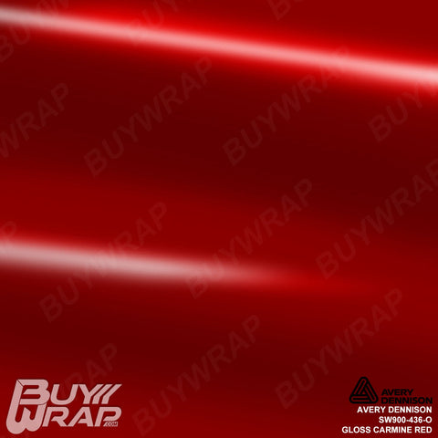 Avery Dennison SW900-436-O Gloss Carmine Red Wrap