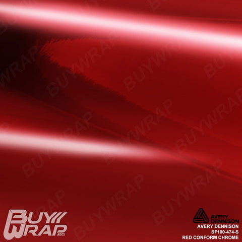 Avery Dennison SF100-474-S Red Conform Chrome Vinyl Film Wrap