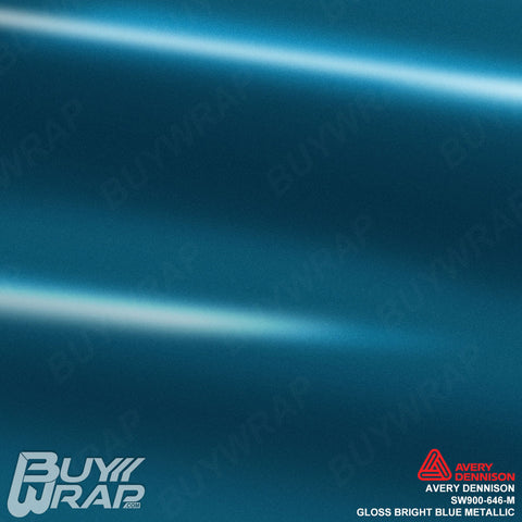 avery dennison gloss bright blue metallic