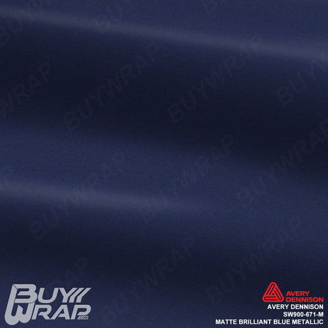 avery matte metallic brilliant blue