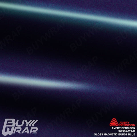 Avery Dennison SW900-679-M Gloss Magnetic Burst Blue Vinyl Wrap Film
