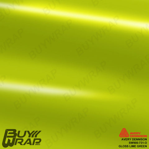 Avery Dennison SW900-731-O Gloss Lime Green Vinyl Wrap
