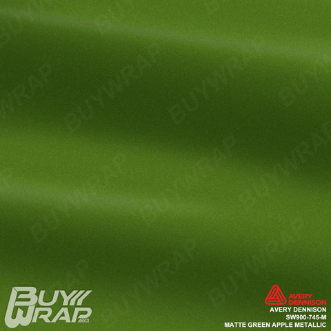avery apple green matte metallic