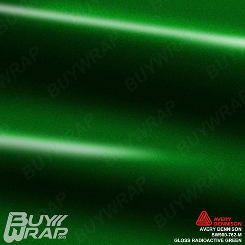 Avery Dennison SW900-762-M Gloss Radioactive Green Vinyl Wrap