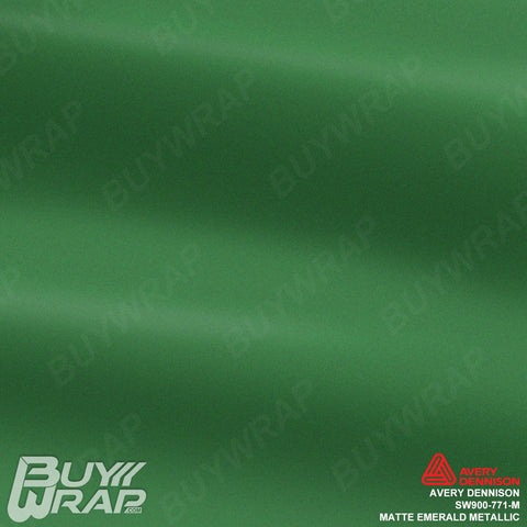avery matte emerald green metallic wrap