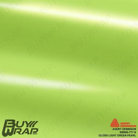 avery dennison gloss light green pearlescent