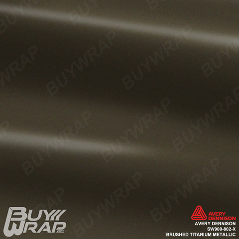 Avery Dennison SW900-802-X Brushed Titanium Metallic Vinyl Wrap Film