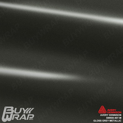 Avery Dennison SW900 Gloss Grey Metallic Vinyl Wrap | SW900-807-M