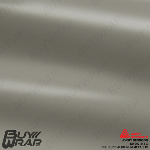 Avery Dennison SW900-812-X Brushed Aluminum Metallic Vinyl Film Wrap