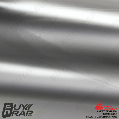 Avery Dennison SF100-843-S Silver Conform Chrome Vinyl Wrap Film