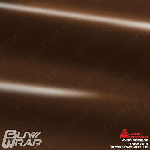 Avery Dennison SW900 Gloss Brown Metallic Vinyl Wrap | SW900-929-M