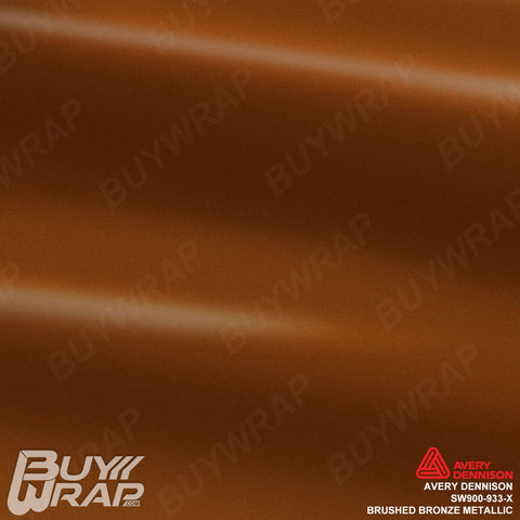 Avery Dennison SW900-933-X Brushed Bronze Metallic Vinyl Vehicle Wrap Film