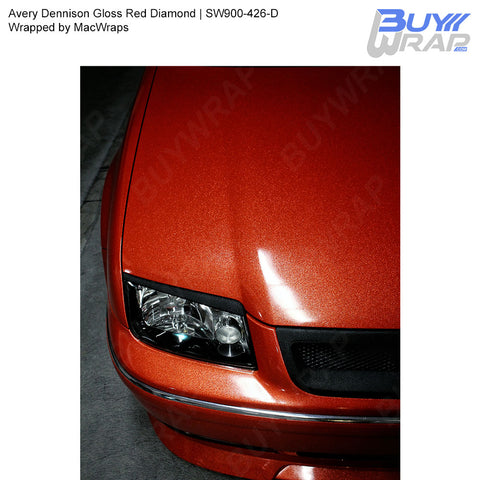 Avery Dennison SW900 Gloss Red Diamond Vinyl Wrap | SW900-426-D