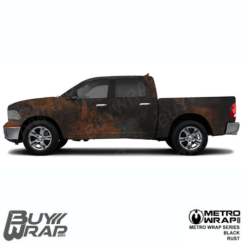 Metro Wrap Series Black Rust Car Wrap Film