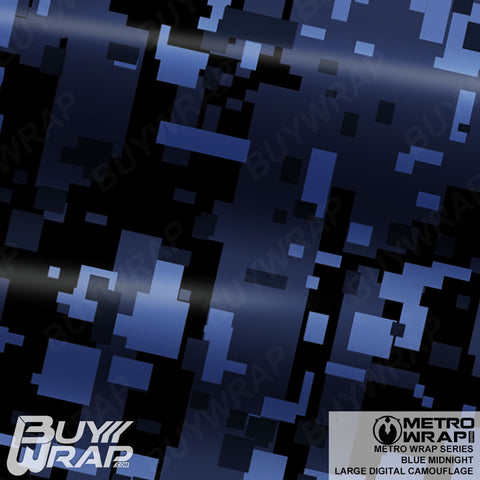 large digital blue midnight camouflage