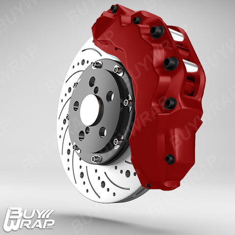 3M Reflective Dark Red Brake Caliper Vinyl Wrap