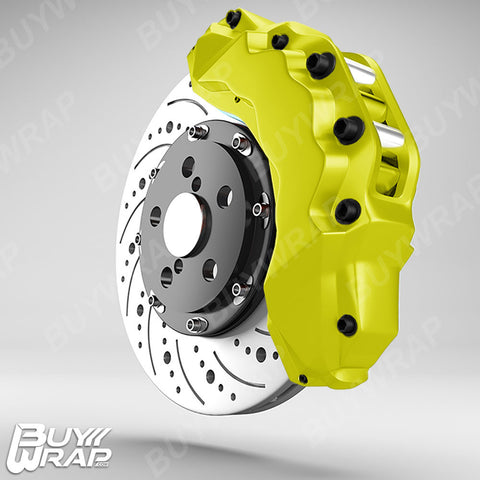 yellow brake calipers