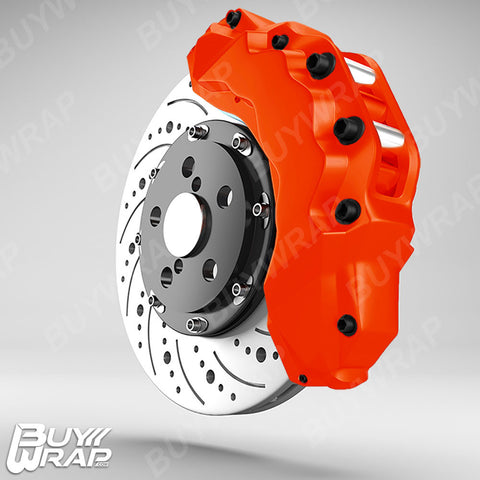 3m reflective orange brake caliper vinyl wrap