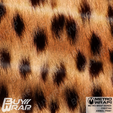 Metro Wrap Series Cheetah Animal Print Car Wrap Film