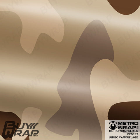 Metro Wrap Series Jumbo Desert Camouflage Vehicle Vinyl Wrap Film