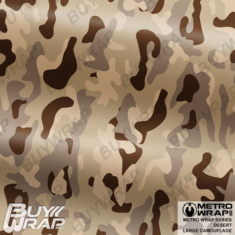 Metro Wrap Series Large Desert Camouflage Vinyl Vehicle Wrap Film
