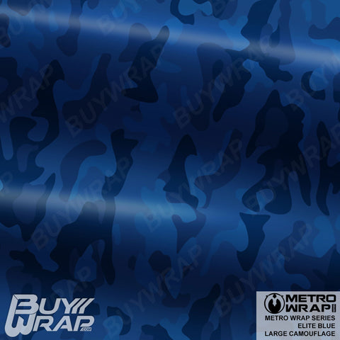 Metro Wrap Series Large Elite Blue Camouflage Vehicle Vinyl Wrap Film