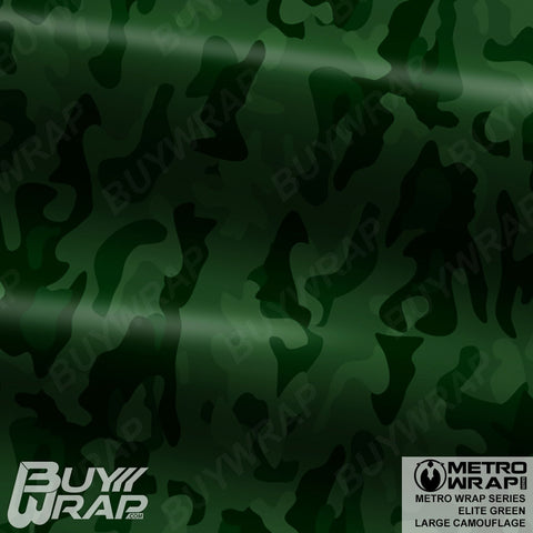Metro Wrap Series Large Elite Green Camouflage Vehicle Vinyl Wrap Film