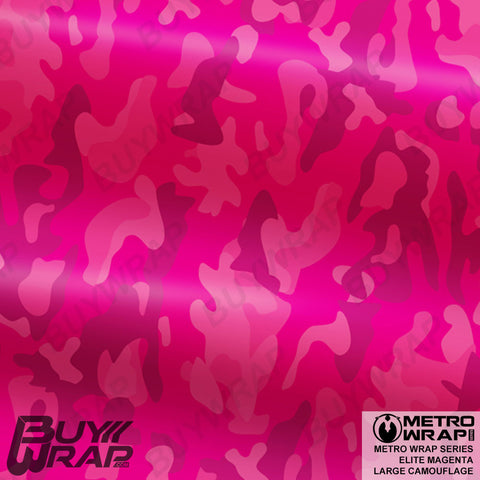 Metro Wrap Series Large Elite Magenta Camouflage Vehicle Vinyl Wrap Film