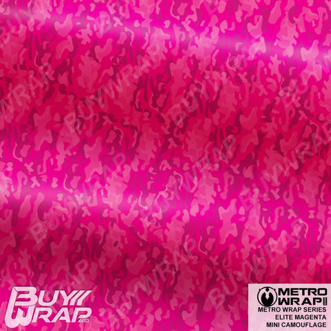 mini elite magenta camouflage wrap