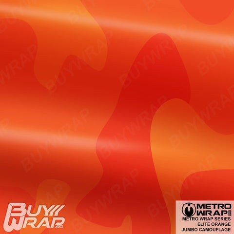 Metro Wrap Series Jumbo Elite Orange Camouflage Vinyl Wrap Film