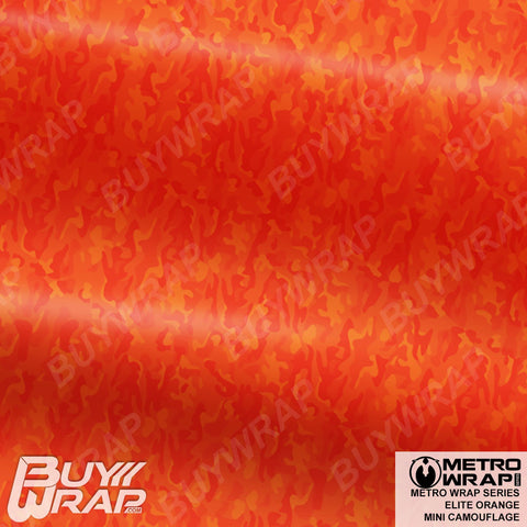 mini elite orange camouflage wrap