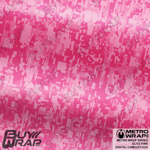 Metro Wrap Series Digital Elite Pink Camouflage Vinyl Wrap Film