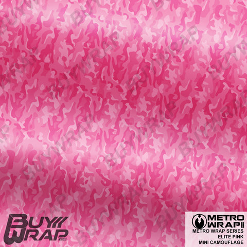 mini elite pink camouflage wrap