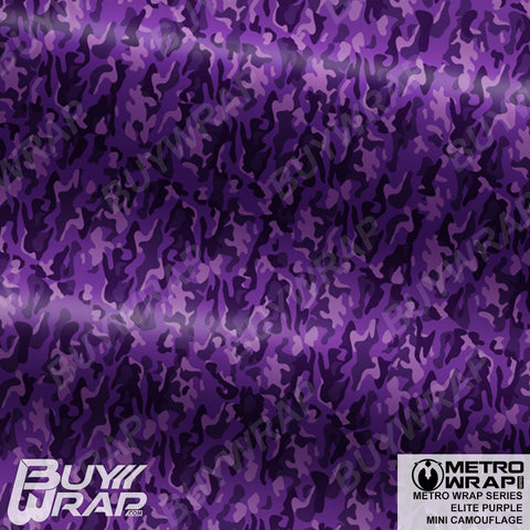 mini elite purple camouflage wrap