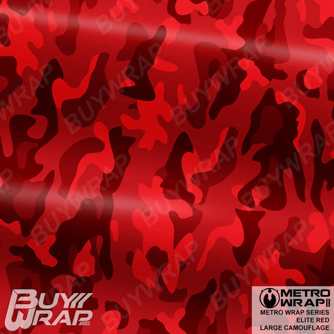 Metro Wrap Series Large Elite Red Camouflage Vehicle Vinyl Wrap Film