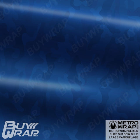 Metro Wrap Series Large Elite Shadow Blue Camouflage Vehicle Vinyl Wrap Film