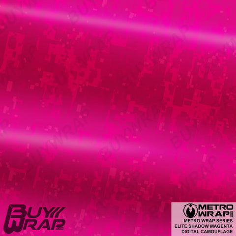 Metro Wrap Series Digital Elite Shadow Magenta Camouflage Vinyl Wrap Film