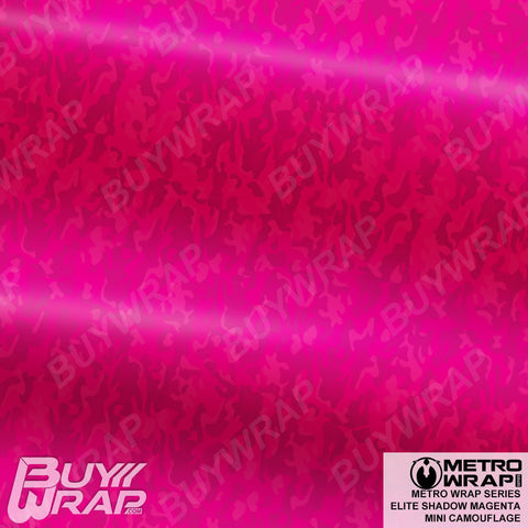 Metro Wrap Series Mini Elite Shadow Magenta Camouflage Vinyl Wrap Film
