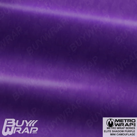 Metro Wrap Series Mini Elite Shadow Purple Camouflage Vinyl Wrap Film