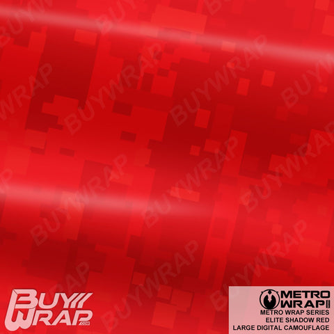 Metro Wrap Series Large Digital Elite Shadow Red Camouflage Vinyl Wrap Film